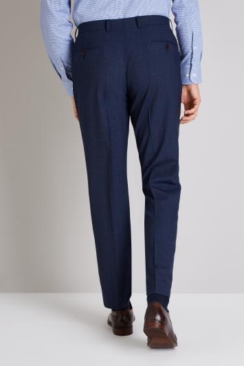 Ermenegildo Zegna Cloth Tailored Fit Blue Prince of Wales Check Trouser