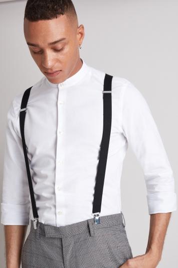 Black Skinny Clip-On Braces