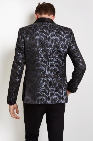 Moss London Skinny Fit Feather Dress Jacket