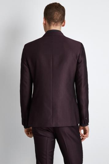Moss London Skinny Fit Burgundy Crepe Dress Jacket