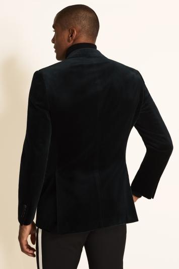 Moss 1851 Tailored Fit Green Velvet Dress Jacket