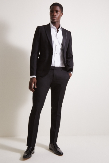 Moss London Slim Fit Black Dress Jacket