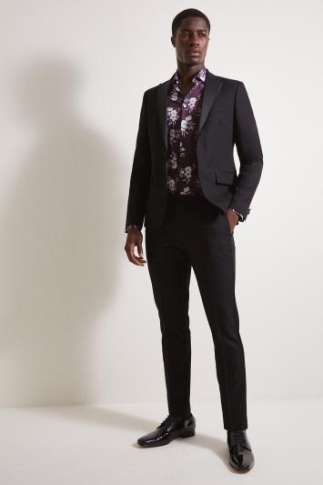 Moss London Slim Fit Black Dress Jacket