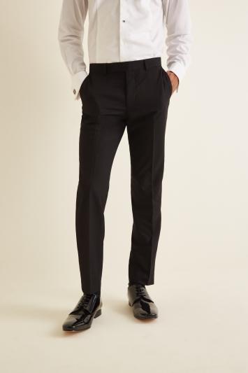 Moss London Slim Fit Black Dresswear Trousers