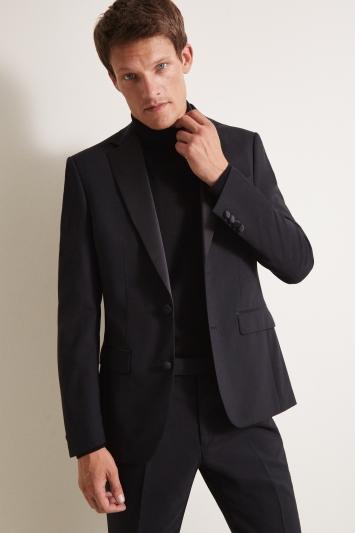 Moss 1851 Tailored Fit Black Notch Dress Jacket