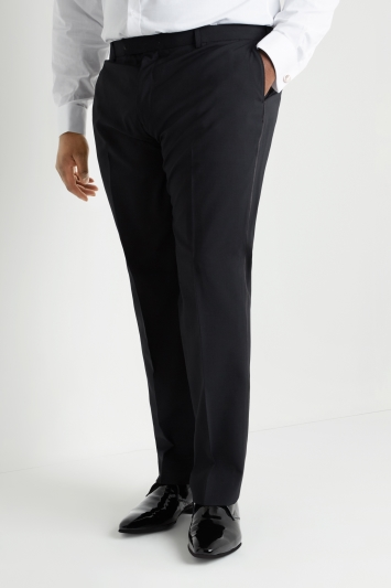 Tailored Fit Black Dress Trousers