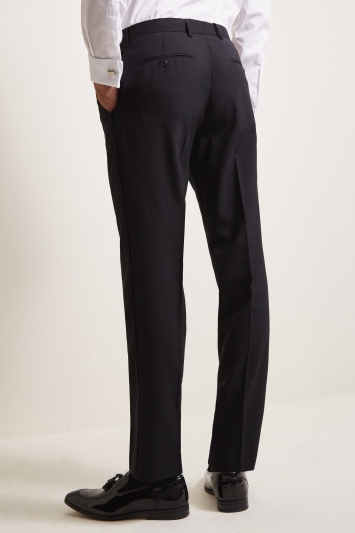 Moss 1851 Tailored Fit Black Dress Trouser