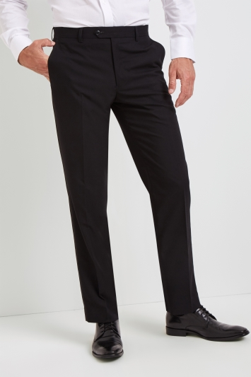 Moss Esq. Regular Fit Black Dress Trousers
