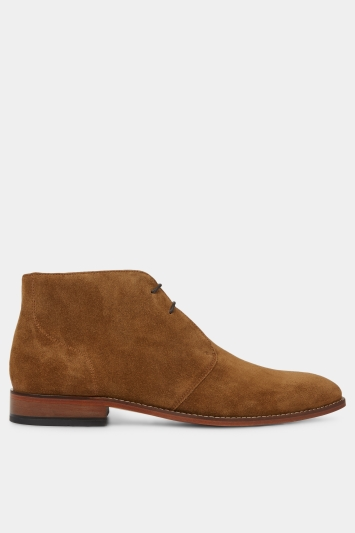 Hardy Amies Tobacco Suede Boot