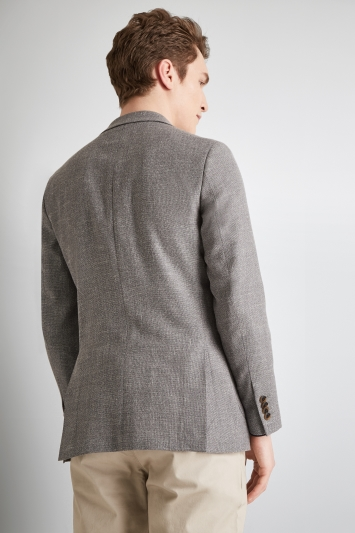 Moss 1851 Tailored Fit Grey Open Weave Jacket