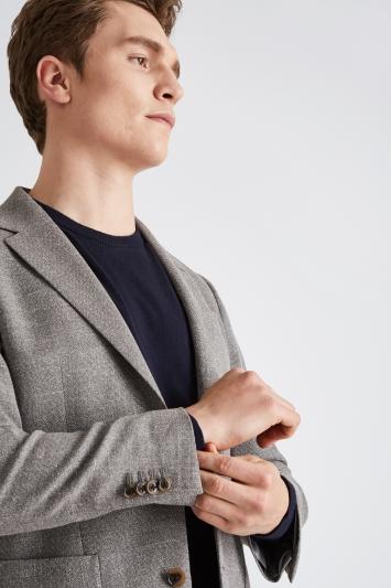 Moss 1851 Tailored Fit Grey Open Weave Jacket