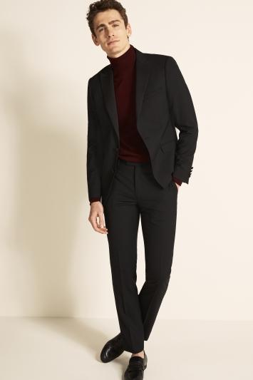Slim Fit Black Dress Jacket