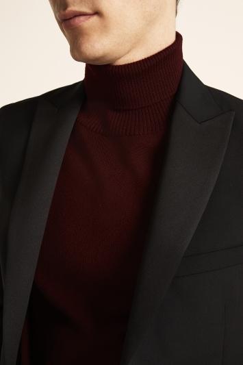 DKNY Slim Fit Plain Black Dress Jacket