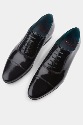 Ted Baker Sharney Black Patent Toe Cap Oxford