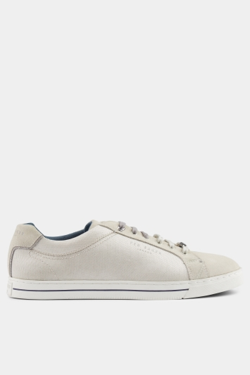 Ted Baker Eeril White Textile Cupsole Trainer