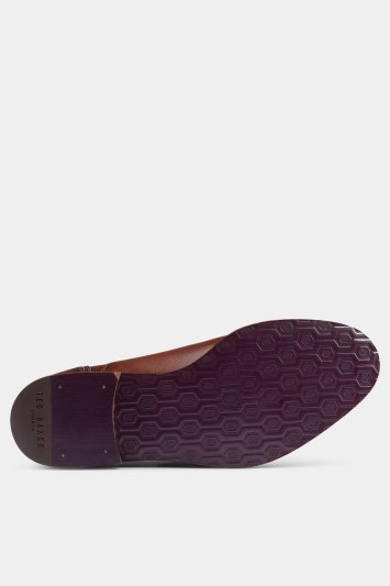 Ted Baker Willah Tan Textured Round Toe Oxford