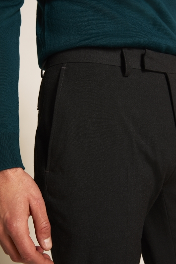 Tailored Fit Charcoal Stretch Trousers