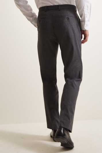 Moss Esq. Regular Fit Machine Washable Mid Grey Trousers with Stretch