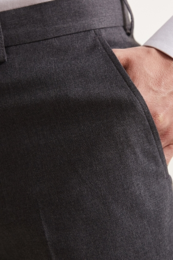 Regular Fit Grey Stretch Trousers