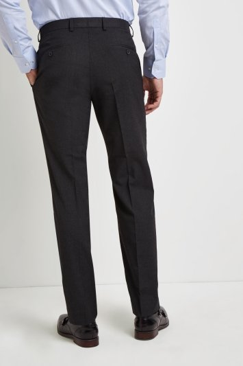Regular Fit Charcoal Stretch Trousers