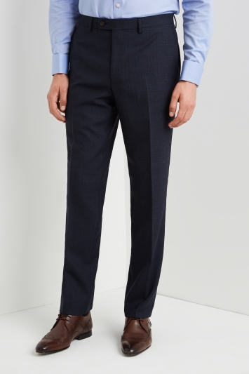 Ted Baker Gold Tailored Fit Airforce Blue Sharkskin Trousers