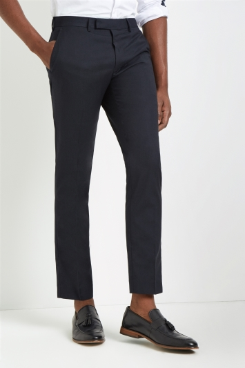 Slim Fit Navy Stretch Trousers