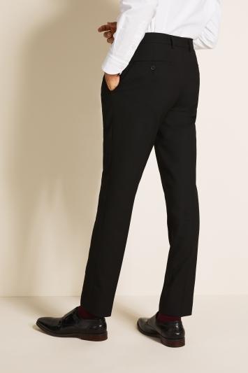 Slim Fit Black Stretch Trousers