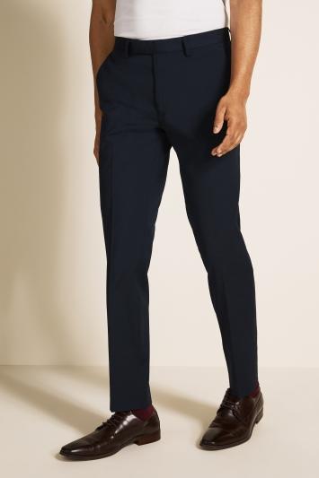 Slim Fit Blue Stretch Trousers