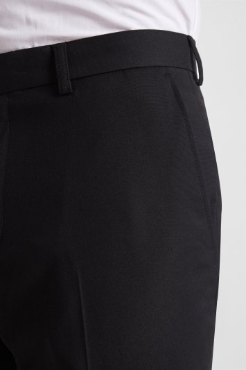 Moss London Skinny Fit Machine Washable Black Cropped Trousers with Stretch
