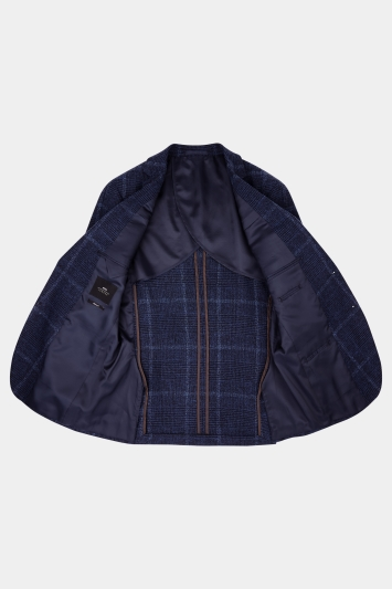 Moss London Skinny Fit Blue Check Jacket