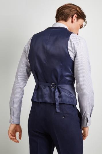 DKNY Slim Fit Ink Texture Waistcoat