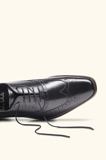 mens black brogue shoes