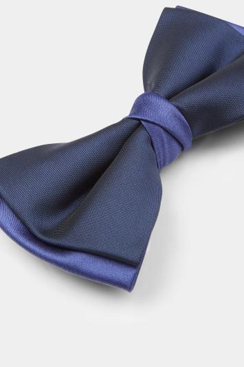 Moss 1851 Navy & Cobalt Contrast Bow Tie