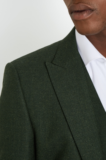 French Connection Slim Fit Olive Flannel Jacket