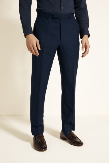 French Connection Slim Fit Ink Flannel Trousers