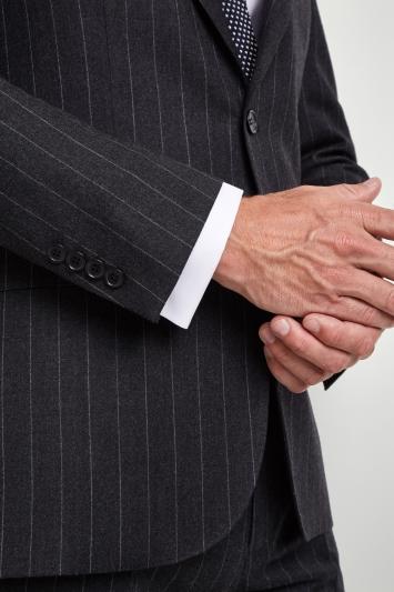 Savoy Taylors Guild Regular Fit Grey Stripe Jacket