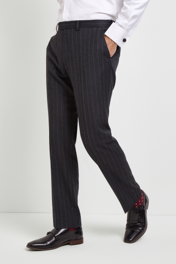Savoy Taylors Guild Regular Fit Grey Stripe Trousers