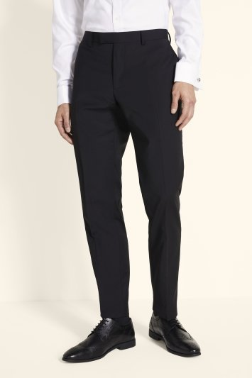 Moss 1851 Performance Tailored Fit Black Trousers