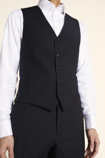Moss 1851 Performance Tailored Fit Black Waistcoat