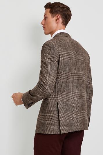 Ermenegildo Zegna Cloth Tailored Fit Brown Check Jacket