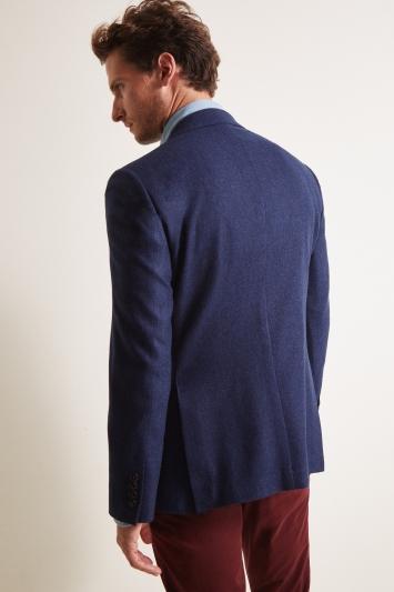 Ermenegildo Zegna Cloth Tailored Fit Blue Semi Plain Jacket
