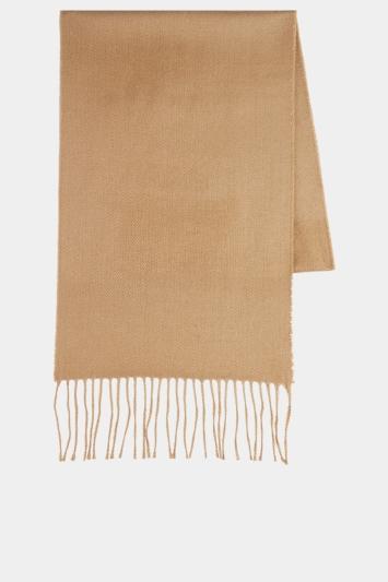Moss 1851 Camel Plain Scarf