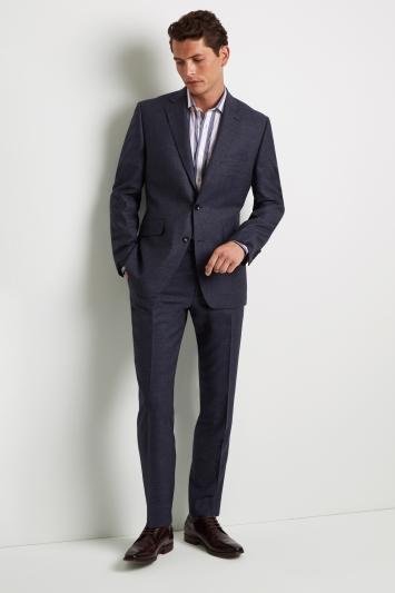 Lanificio F.lli Cerruti Dal 1881 Cloth Tailored Fit Mid Blue Texture Milled iTravel Jacket