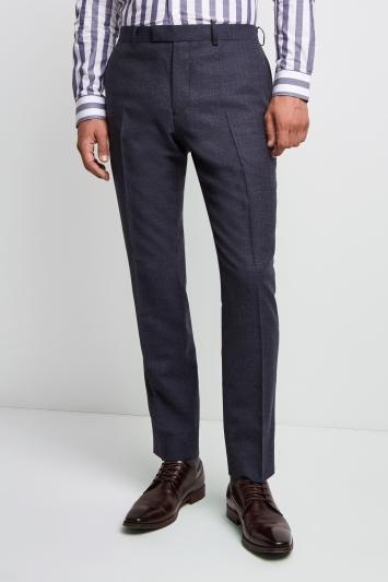 Lanificio F.lli Cerruti Dal 1881 Cloth Tailored Fit Mid Blue Texture Milled iTravel Trouser