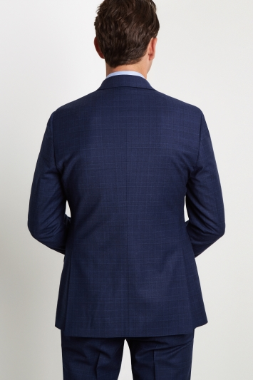 Moss 1851 Performance Tailored Fit Blue Check Milled Jacket