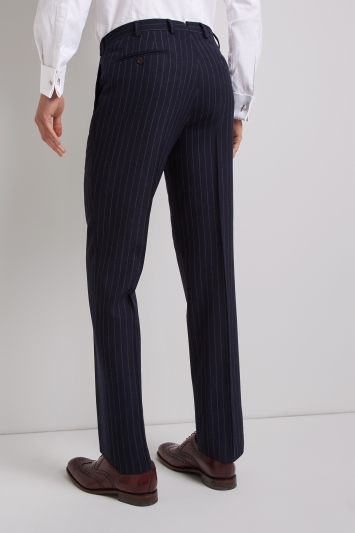 Ermenegildo Zegna Cloth Tailored Fit Navy Stripe Trousers