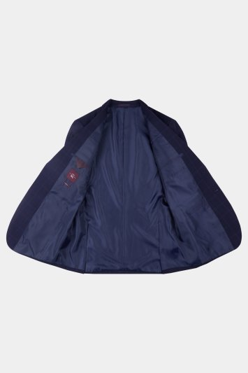 Moss Esq. Regular Fit Indigo Check Jacket