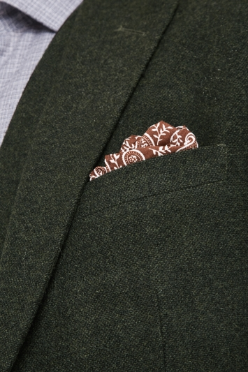 Moss London Slim Fit Khaki Donegal Jacket