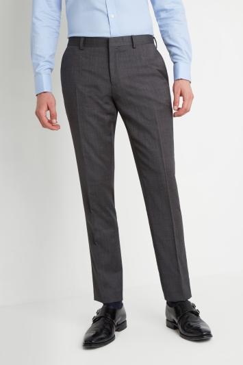 Moss 1851 Tailored Fit Charcoal Semi Plain Trouser