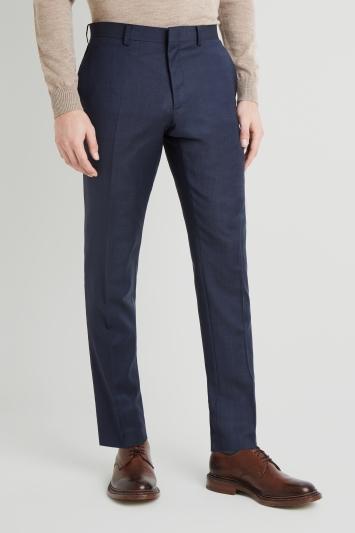 Moss 1851 Tailored Fit Indigo Semi Plain Trouser